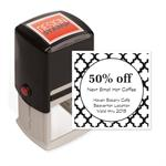 104022 Quatrefoil Design Stamp Self-Inking 1 1/2 x 1 1/2