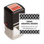 104029 Bold Quatrefoil Design Stamp Self-Inking 1 1/2 x 1 1/2