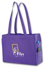 108851 Non woven side Pocket Tote - small 16 x 6