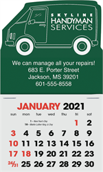 109366 2021 Van Peel N Stick Calendars 3 x 4