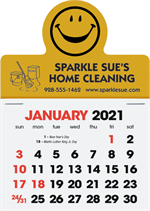 109367 2021 Smiley Face Peel N Stick Calendars 3 x 4