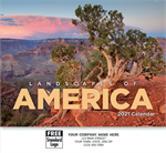 109373 2021 Landscapes Of America Wall Calendars 11 x 19