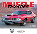 109377 2021 Muscle Thunder Wall Calendars 11 x 19