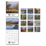 109382 2019 Landscapes Of America Miniature Calendars 6 x 13