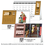 109394 2021 The Saturday Evening Post Desk Calendars 6 x 4 1/2