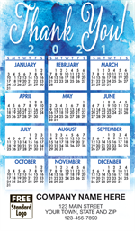 109775 2021 Blue Thank You Magnet Calendar 2 7/8 x 4 15/16