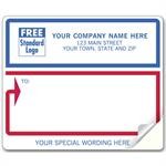 12688 Mailing Labels Laser/Inkjet White with Blue and Red Borders 4 x 3 1/3