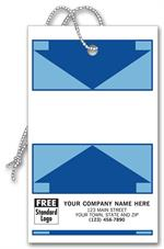 145 Weatherproof Tags Tyvek White with Blue Arrow Design 3 x 5