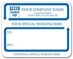 1546C Jumbo Mailing Labels w/ Special Wording Padded White 4 3/4 x 3 3/4