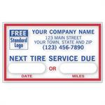 1690E Next Tire Service Static Cling Windshield Labels 2 1/2 x 1 1/2