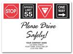 200116 Drive Safely with Signs Floor Mat 19 x 14