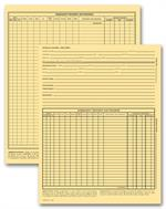 20916 Vet Animal Exam Records With Account Record Card File 9 1/4 x 8