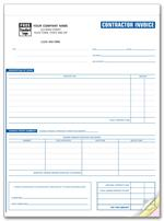 253 Contractor Invoices Classic 8 1/2 x 11