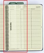 25851 Appointment Bookmarker Set for Wirebound Books 6 x 11