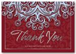 3ED009 Blue Velvet Thank You Cards 7 7/8 x 5 5/8