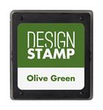 407005 Olive Green Ink Pad for Design Stamp 1 3/4 x 2
