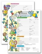 4073 Two-Sided Registration & History Form Pediatric Dental 8 1/2 x 11