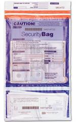53858 Dual Pocket Deposit Bag Clear Front Opaque Back 9 1/2 x 15