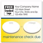 58165 Static Cling Service Label Maintenance Check Due 2 1/2 x 2 1/2