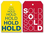 Reusable Hold & Sold Tag Set w/Repeating Words 2 x 3 1/8