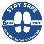 Stay Safe Social Distancing Circle Floor Decals 12