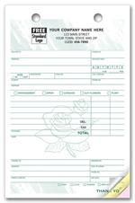 672T Register Forms Large Forms for Florists 5 1/2 x 8 1/2