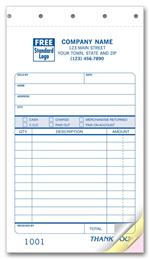 80 Classic Small Sales Slips 4 1/4 x 7
