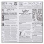 11-04FG-NP Food Grade Tissue Paper Game Changer Newspaper 12 x 12