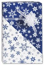 Editing: Blue Snowflakes Reversible Gift Wrap, 24