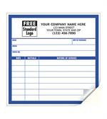 CL12 Large Service Record Labels White with Blue Border 5 x 5