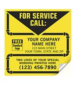 CL14 Contractor Service Labels With Pipe Border Vinyl 5 x 5
