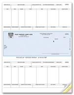 DLM341 Laser Checks Payroll Compatible with Sage/Peachtree  8 1/2 x 11