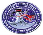 FSECH21 Holiday Snowman Seal 1 5/8 x 1 5/16