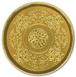 H1113 Round Gold Medallion Envelope Seal 1