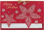H13602 - N3602 Stars Come Out Laser Cut Christmas Holiday Cards 7 7/8