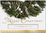 H13623 - N3623 Glittering Wreath Christmas Holiday Cards 7 7/8 x 5 5/8