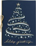 H13674 - N3674 Celestial Tree Laser Cut Holiday Cards 5 5/8 x 7 7/8
