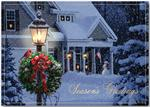 H13675 - N3675 Evening Home Patriotic Holiday Cards 7 7/8 x 5 5/8