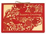 H14602 - N4602 Storybook Bough Laser Cut Holiday Cards  7 7/8 x 5 5/8