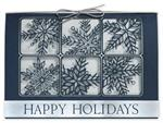 H14603 - N4603 Silvery Snow Laser Cut Holiday Cards 7 7/8 x 5 5/8