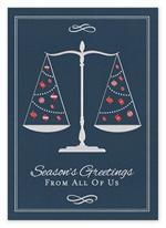 H14637 - N4637 From The Firm Attorney Legal Holiday Card 5 5/8