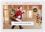 H15634 - N5634 Santa's Workshop Contractor & Builder Holiday Cards 7 7/8 x 5 5/8