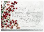 H15661 - N5661 Berries & Wishes Holiday Cards 7 7/8 x 5 5/8