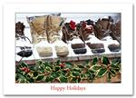 H57006 - N7006 Snow Boots Holiday Cards 7 7/8 x 5 5/8