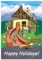 HL2511 - NN2511 Building Holiday Joy Holiday Cards 5 5/8 x 7 7/8