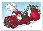 HML1512 - N1512 Tow Ho Ho Automotive Holiday Cards 7 7/8 x 5 5/8