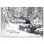 HP09309 Icy Creek Holiday Cards 7 7/8 x 5 5/8