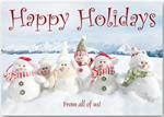 HP13305 - N3305 Snowgang Holiday Cards 7 7/8 x 5 5/8
