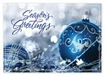 HP14312 - N4312 Nestled In Silver Holiday Card 7 7/8 x 5 5/8