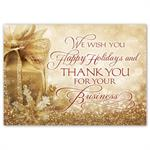 HP16309 - NN6309 Gold Joy Holiday Cards 7 7/8 x 5 5/8